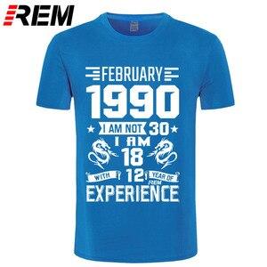 Image 3 - 1990 سنوات قميص يناير فبراير ديسمبر الرجال قصيرة الأكمام تي شيرت مطبوعة عادية يوليو أغسطس موضة مارس أبريل مايو يونيو