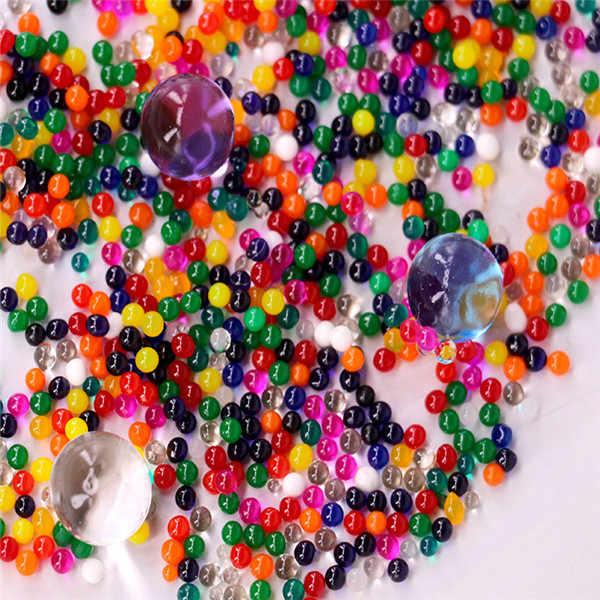 100 Stuks Plant Bonsai Bodem Kleurrijke Kristal Bodem Plant Bloem Jelly Mud Water Kralen Voor Planten Parels Vaas Bodem Gel ballen Speelgoed