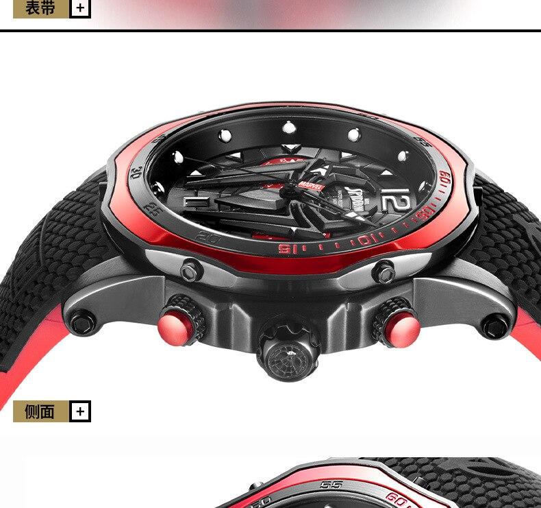 Disney marvel real relógio homem aranha-homem à