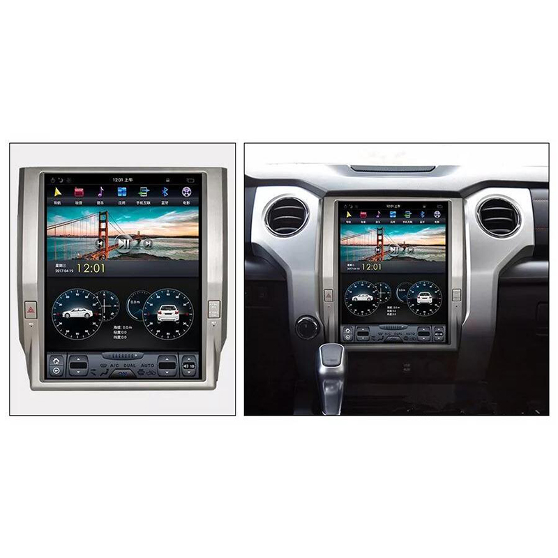 12.1 ''android 7.1 Vertical Screen system 2+32G Car Radio GPS Multimedia Stereo for TOYOTA Tundra 2014 2015 2016 2017 2018 2019 image