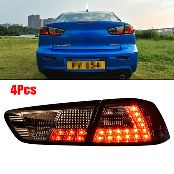 Tail lights LED Smoke Lens Rear Taillight Assembly Lamp Fit For Mitsubishi Lancer EX
