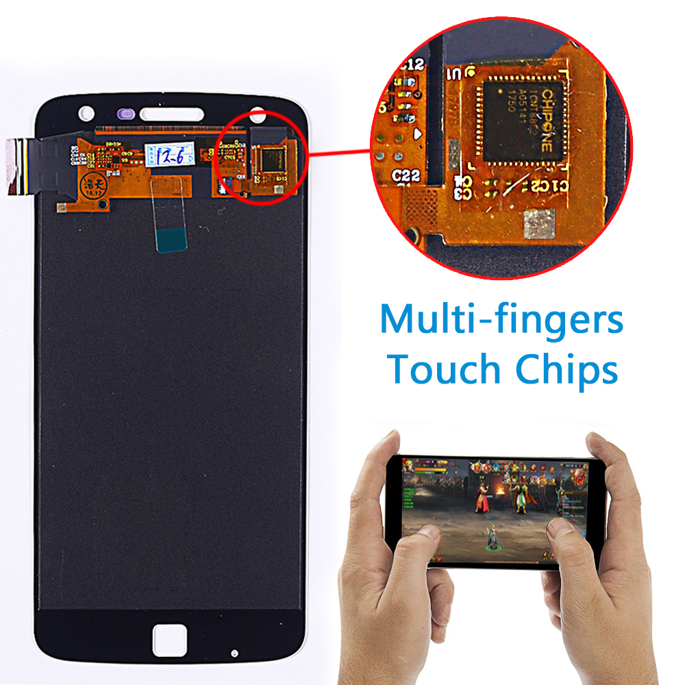 Image 5 - Motorola Moto Z Play 5.5 inch LCD Display XT1635 Touch Screen Digitizer 1920*1080  Assembly with Free Tempered Glass and Tools-in Mobile Phone LCD Screens from Cellphones & Telecommunications