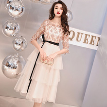 2020 New Arrival High/low Scoop Bridesmaid Dresses Long Tuxe