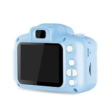 Hd экран перезаряжаемая цифровая мини-камера дети мультфильм милые камеры игрушки наружная Фотография реквизит для ребенка подарок на день рождения-синий
