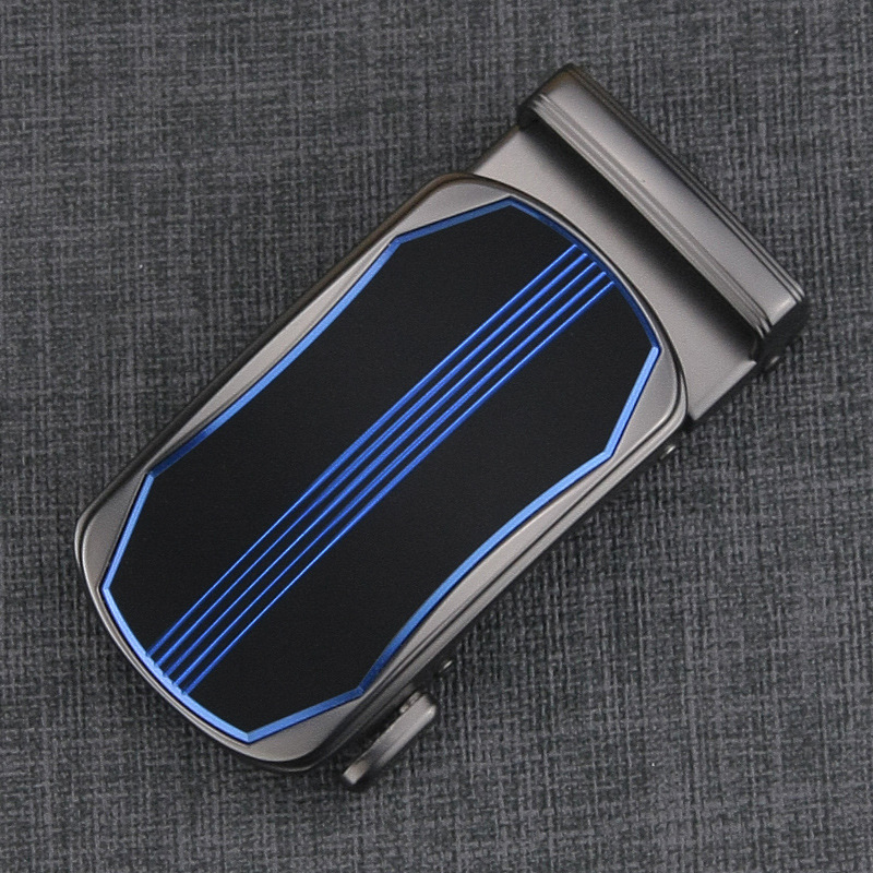 New Fashion Men's Business Alloy Automatic Buckle Unique Plaque Belt Buckles For 3.5cm Ratchet Men Belt's Apparel Accessories