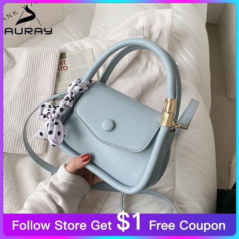 AURAY Designer Women's Shoulder Bag Fashion Small Purses And Handbags Crossbody Bags For Women 2021 PU Leather Messenger Bag