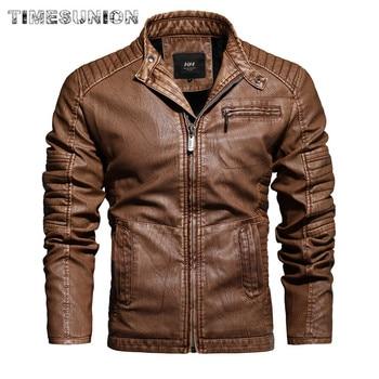 Leather Jacket Men Vintage Lapel Motorcycle Jacket Mens Leather Jacket Brown Thick Biker Coat Fashion Outwear Clothing Men Tops maplesteed vintage motorcycle jacket men leather jacket 100