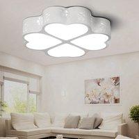 Luz de teto led lâmpada do teto trevo sala estar luminária quarto montagem em superfície painel nivelado controle remoto