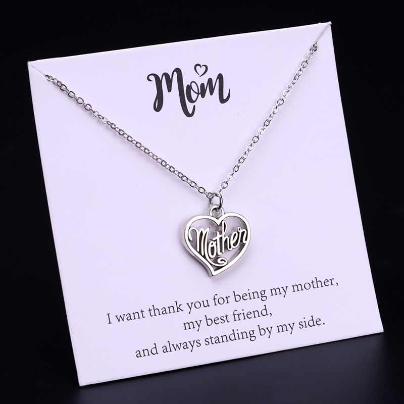 Super Mom Daughter Son Love Mama Women Necklace Pendant for Mothers Day Gift