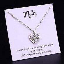 Супер Мама Мать сердце подвеска, ожерелье, чокер ожерелье Женская мода карты ювелирные изделия рождественские подарки Прямая