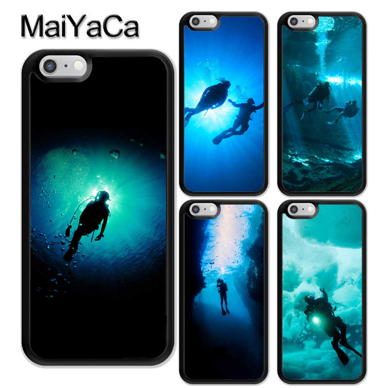Scuba Diving Penyelam untuk iPhone 11 Pro Max X XR X Max 5S SE 2020 6S 7 8 Plus Cover Coque