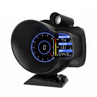Racing OBD2 Head Up Display Car Digital Dashboard Boost Gauge Speed RPM Water Oil Temp Voltage EGT AFR Car Meter Alarm DO916