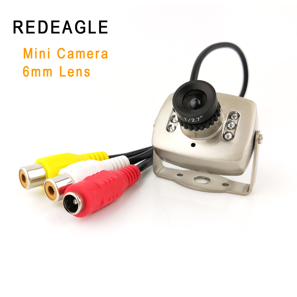 REDEAGLE CVBS Super Mini Color Analog Security Camera 940nm IR Night Vision Video Audio Surveillance Cameras With 6mm Lens