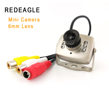REDEAGLE CVBS Super Mini Color Analog Security Camera 940nm IR Night Vision Video Audio Surveillance Cameras with 6mm Lens - discount item  14% OFF Video Surveillance