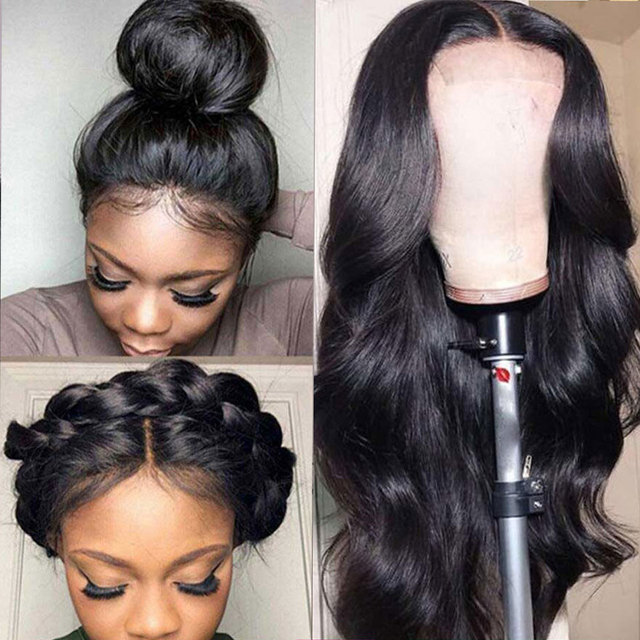 $ US $52.85 HD Transparent Lace Frontal Wig 5x5 Lace Closure Wig 13x6 Invisible Lace Front Human Hair Wigs 150% Remy Brazilian Body Wave Wig