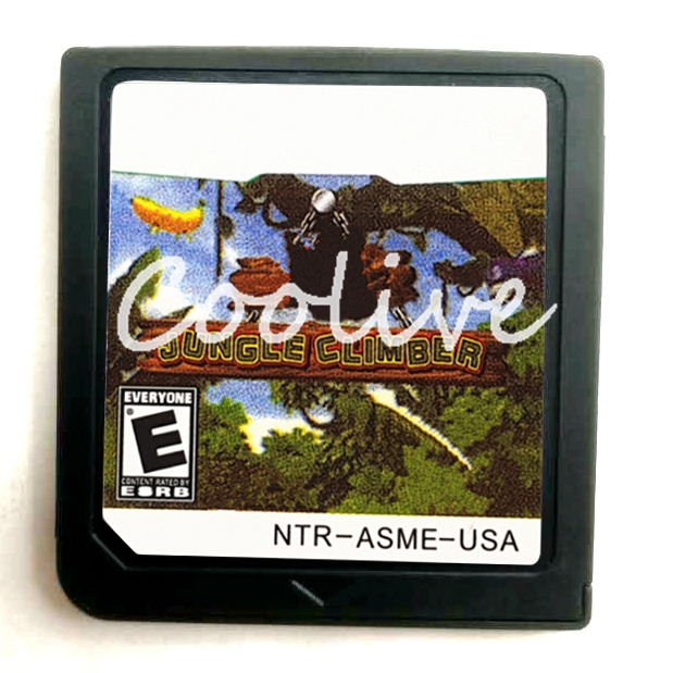 Jungle Climber Video Game Accessories Compilation Cartridge Card for 64 bit Console US Cover
