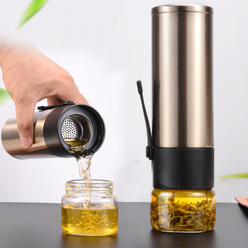 цена на 400ml Flask Bottles Thermos Bottle  Tea Strainer Thermos Mug Bottle Vacuum Stainless Steel Tea Partition Thermo Cup Glass