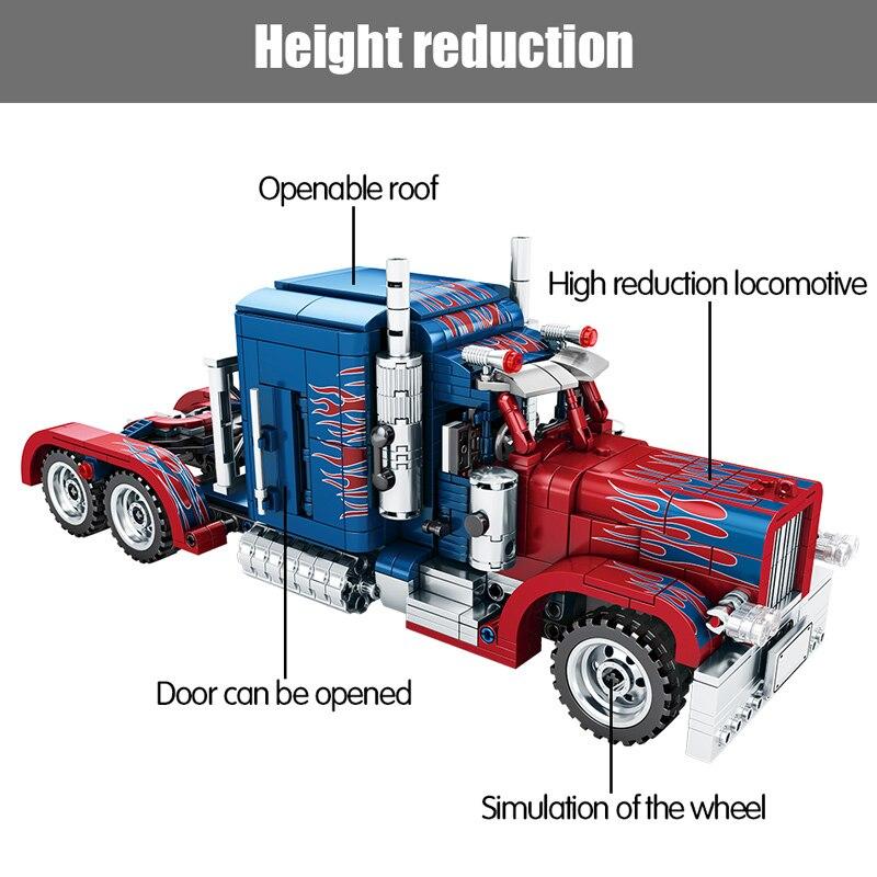 SEMBO Block Technical Peterbilt Heavy Container Truck Bricks