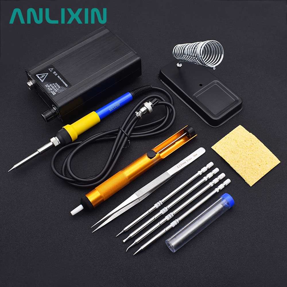 T12 Soldering Iron Station Solder Digital OLED LED Display Heating T12A T100 STM32 Equipment Hand Tools BGA 110V-220V