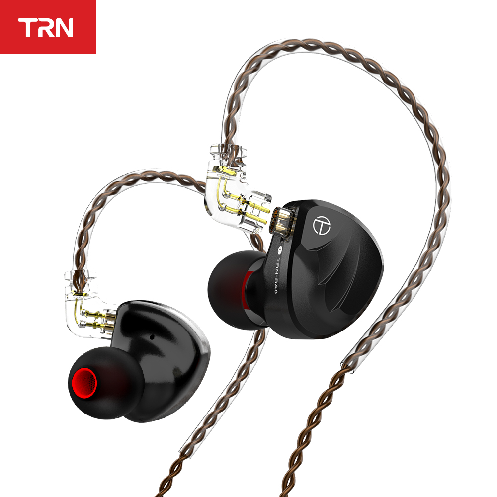 In-Ear Earphone Trn Ba8 Monitor Earbuds HIFI Running Ce for V90 Ba5/Vx/Zsn-pro 8BA 18-Balanced