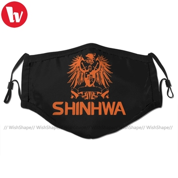 Shinhwa Mouth Face Mask Kpop Shinhwa Orange Facial Mask Kawai Funny with 2 Filters for Adult