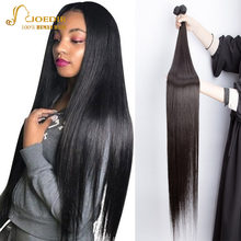 Extensiones de cabello humano Pelo Largo liso 36 38 40 42 pulgadas X pelo Real Joedir extensiones de cabello Natural no Remy para mujeres negras