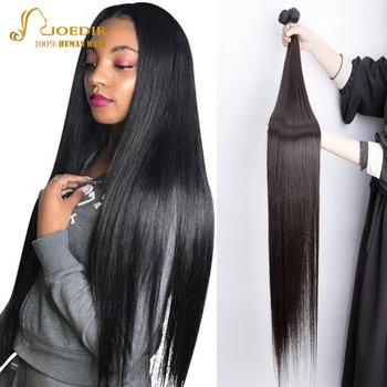 Wiązki ludzkich włosów proste długie włosy 36 38 40 42 Cal włosy X włosy naturalne Joedir nierealne włosy naturalne zestawy dla czarnych kobiet tanie i dobre opinie CN (pochodzenie) Brazylijskie włosy Obróbka kwasowa Tkactwo Ludzkie włosy Podwójny wątek robiony maszynowo X Real Hair