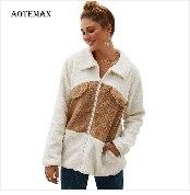 Autumn Winter Coat Women 2019 Fashion Vintage Slim Double Breasted Jackets Female Elegant Long Warm White Coat casaco feminino 81