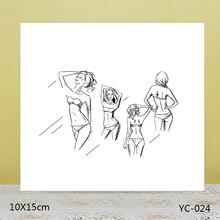 ZhuoAng Bikini beauty Transparent seal / sealed DIY scrapbook album decoration card seamless