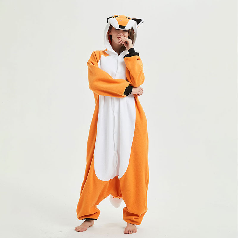 Red Fox Kigurumis Cartoon Animal Nick Fox Onesie Pajama Funny Jumpsuit For Adult Men Women Overalls Festival Outfit Fancy Suit(China)