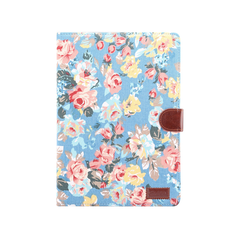 blue Red For iPad 10 2 2019 Smart Flowers Painted Case For Apple iPad 7th Generation A2200 A2198