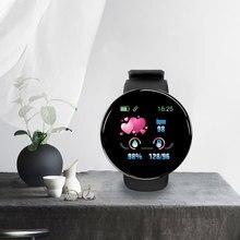 D18 קצב לב לחץ דם Smartwatch צבע מסך כושר גשש חכם שעון IP65 עמיד למים צמיד