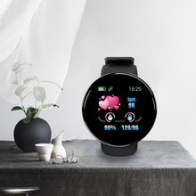 D18 อัตราการเต้นหัวใจความดันโลหิต Smartwatch หน้าจอสีฟิตเนส Tracker สมาร์ทนาฬิกา IP65 สร้อยข้อมือกันน้ำ