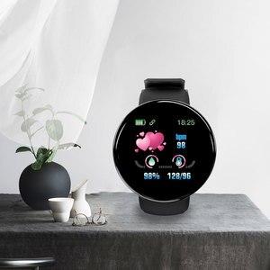 Image 1 - D18 ciśnienia krwi tętno Smartwatch kolorowy ekran inteligentny zegarek fitness smart watch IP65 wodoodporna bransoletka