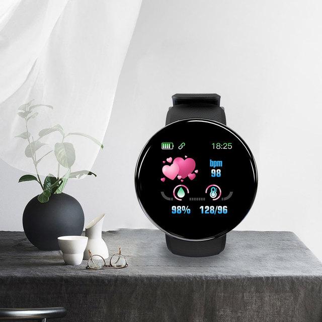 D18 ciśnienia krwi tętno Smartwatch kolorowy ekran inteligentny zegarek fitness smart watch IP65 wodoodporna bransoletka