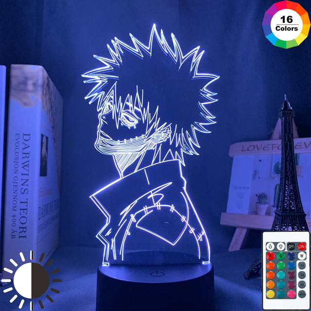 16 COLOR WITH REMOTE MY HERO ACADEMIA 3D LED LAMP (9 VARIAN)