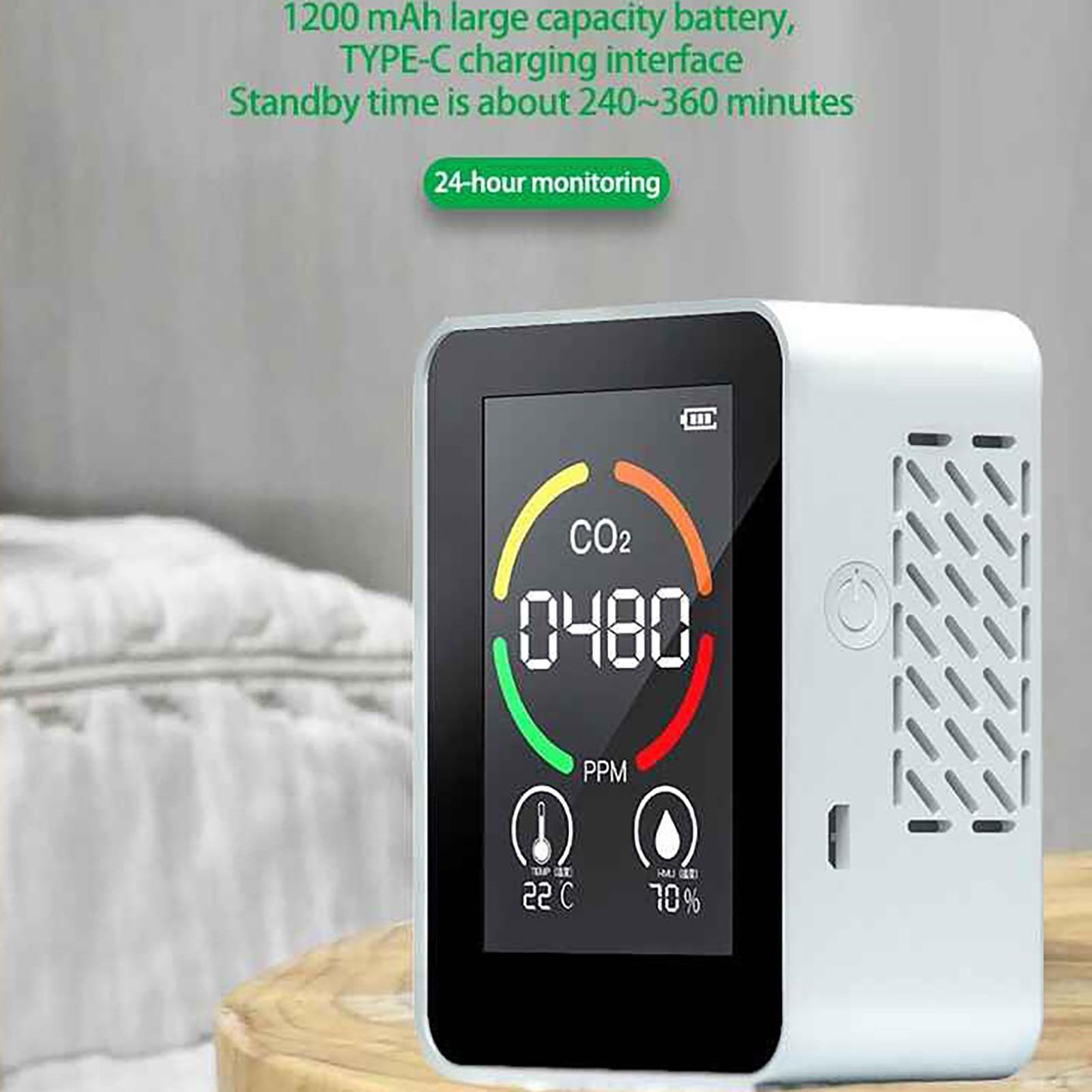 Портативный Измеритель Co2, цифровой датчик температуры и влажности, тестер качества воздуха, детектор углекислого газа, формальдегида, Hcho