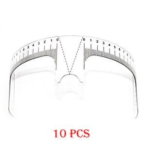 Image 1 - 10PCS Reusable Semi Permanent Augenbraue Herrscher Auge Stirn Messen Werkzeug Augenbraue Guide Herrscher Microblading Sattel Schablone Make Up Werkzeuge