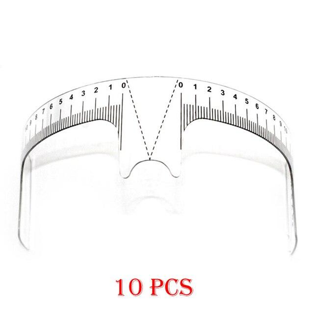 10PCS Reusable Semi Permanent Augenbraue Herrscher Auge Stirn Messen Werkzeug Augenbraue Guide Herrscher Microblading Sattel Schablone Make Up Werkzeuge
