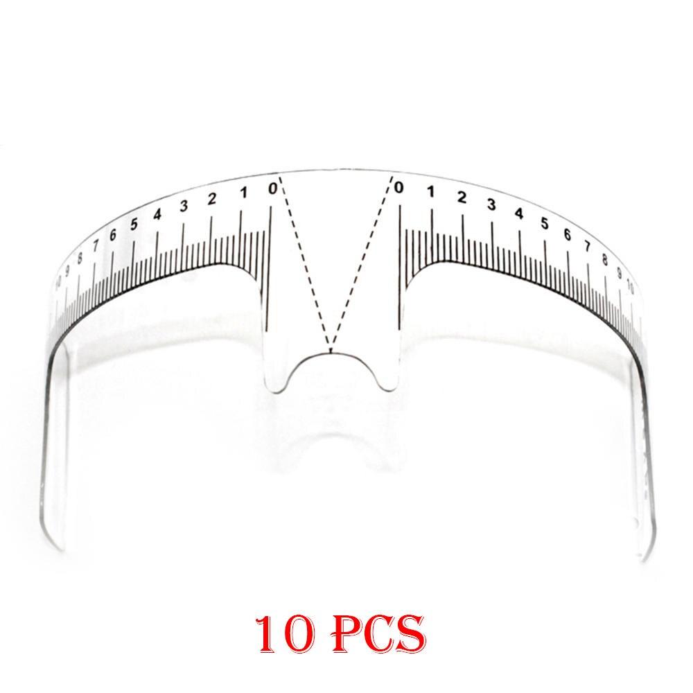 10PCS Reusable Semi Permanent Eyebrow Ruler Eye Brow Measure Tool Eyebrow Guide Ruler Microblading Calliper Stencil Makeup Tools