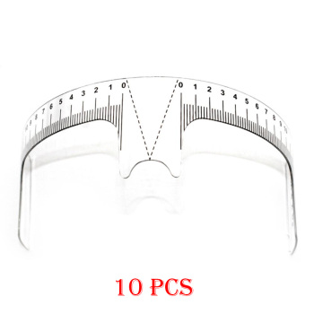 10PCS Reusable Semi Permanent Eyebrow Ruler Eye Brow Measure Tool Eyebrow Guide Ruler Microblading Calliper Stencil Makeup Tools