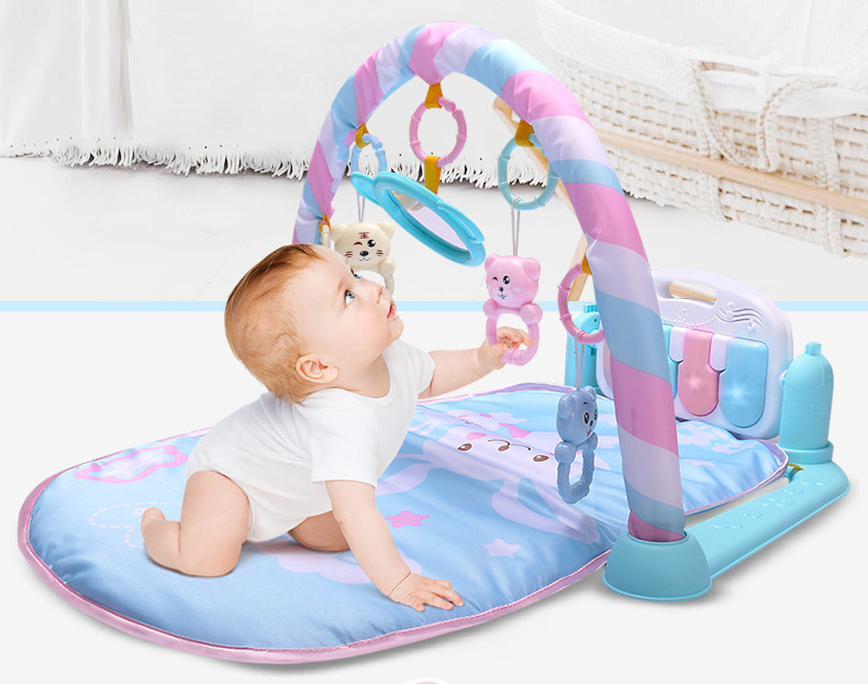 Novo bebê música cremalheira jogar tapete criança