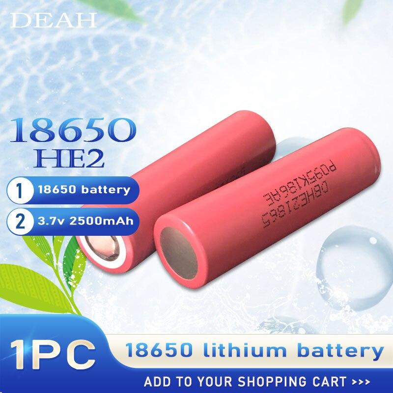1PC nowy 100% oryginalny 3.7v 18650 HE2 2500mah akumulator litowy do LG 20A rozładowania Max 35A dla papierosów elektronarzędzi