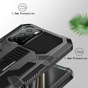 Image 4 - JKaiSen 숨겨진 킥 샤오미 POCO M3 POCO X3 Shockproof 브래킷 보호 커버 샤오미 POCO X3 NFC 케이스