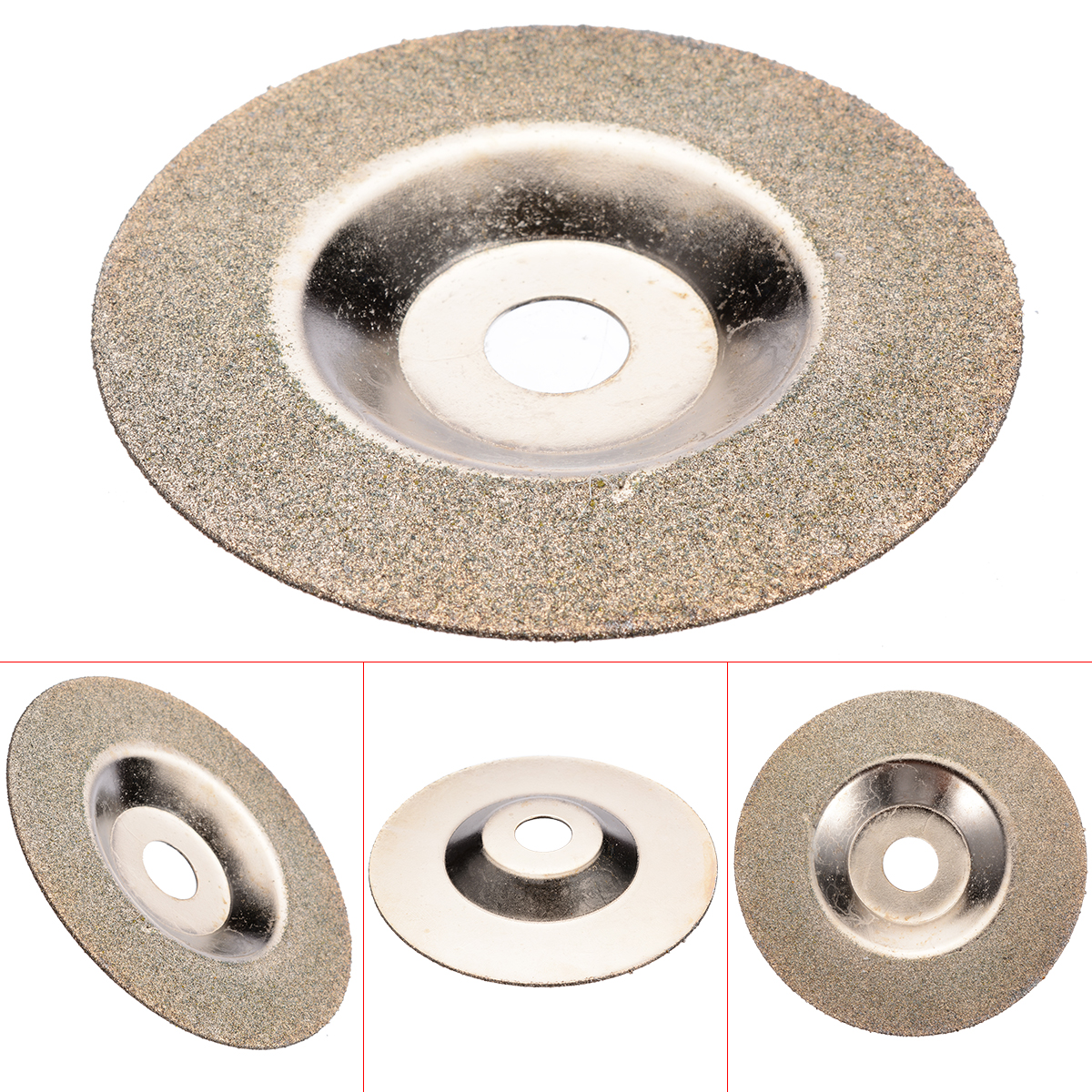 100mm*16mm 80 Grit Diamond Coated Grinding Wheel Angle Grinder Disc Cuttering Saw Blades Grinding Wheel