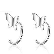 PISSENLIT Silver Drop Earrings CC Earring Charms Women Jewelry mujer moda 2019 Fashion Butterfly Dangle bijoux