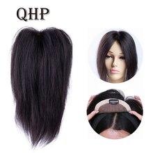 6x11 см 10 дюймов-20 дюймов прямые кружева+ PU основа волос Топпер парик шиньон для женщин Remy человеческие волосы для женщин