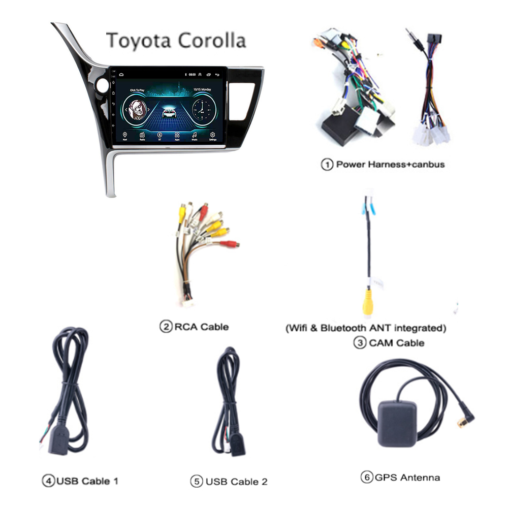 Car Radio For Toyota Corolla Altis Android 8 1 10 1 Inch 2017 2018 Gps Navigation 2 5d Screen Support Stereo Audio Swc Wifi Usb Car Multimedia Player Aliexpress