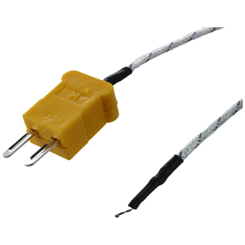 2 Pcs -50-204C Fork Terminal K Type Thermocouple Probe Temperature Sensor