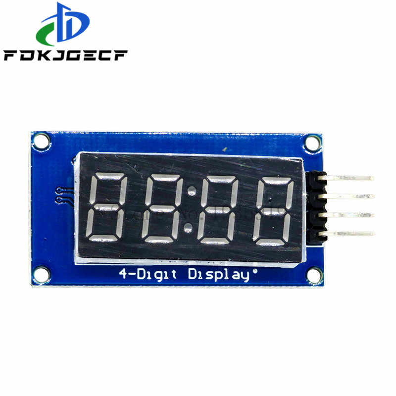 1pcs TM1637 4 Bits Digital LED Display Module For arduino 7 Segment 0.36Inch Clock RED Anode Tube Four Serial Driver Board Pack